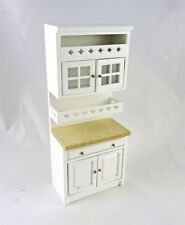 Dollhouse Miniature White Kitchen Cabinet, T5719