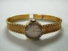 LADIES VINTAGE GUBELIN 18K YELLOW GOLD WOVEN MESH WIND-UP WRIST WATCH ~ LOVELY!