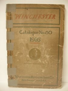 VINTAGE Original 1916 224 pg Catalog Winchester repeating arms rifles shotguns