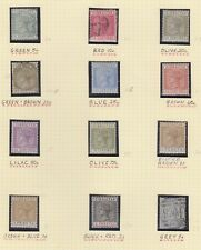 Gibraltar 1889 Definitive set SG22/33  8 Mounted Mint 4 used  SG Cat Value £300+