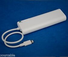 5V 1A AA Battery Portable Backup Charger WHITE for iPhone 7 6s 6 Plus SE 5s 5c 5