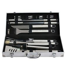 Grill Utensil Set 19Pc Stainless Steel BBQ Tools Outdoor Barbecue Cooking Case