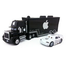 Disney Pixar Cars Black Apple Mack Racer's Truck & No.84 Apple Icar Car Boys