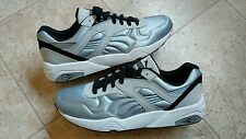 New PUMA MEN'S MATT SHINE R698 TRINOMIC GLACIER GREY BLACK 359305-03 Size 10