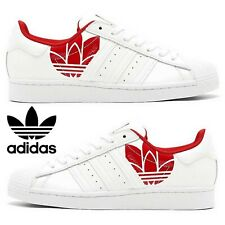 Adidas Originals Superstar Sneakers Mens Casual Shoes Running Sonic White Red