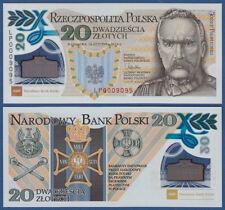 POLEN / POLAND 20 Zlotych 2014 in Folder, Polymer  UNC  P. 187