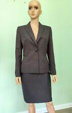 Kasper Women Dark Gray Skirt Suit Size 10P Polyester One Button