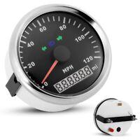 Digital 85mm 120MPH Waterproof GPS Speedometer Odometer For Car Motorcycle Boat