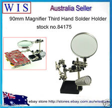 Third Hand Soldering Iron Stand Helping Clamp Vise Clip Tool Magnifying Glass
