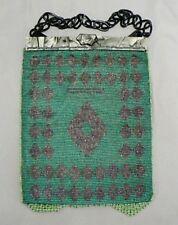 Beautiful Vintage Green Beaded Purse