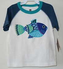 Brand New Tea Collection Colorful Fish Shirt ~ Boy's 4T