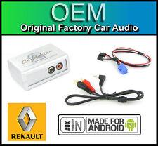 Renault Scenic aux Plomo auto estéreo teléfono inteligente Android Player Conexión Adaptador