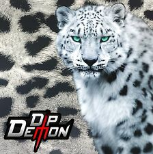 SNOW LEOPARD SPOTS CAMO WHITE HYDROGRAPHIC WATER TRANSFER FILM HYDRO DIP DIPPING