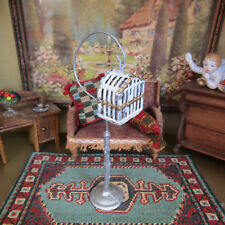 Antique Dollhouse Birdcage Vtg Miniature Pet Animal Bird Cage Soft Metal Germany