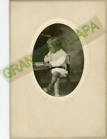 Antique Photo-Very Cute-Little Girl-Knees Crossed-Reading Book-Patsy Bailey