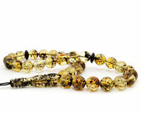 Genuine Baltic Amber Islamic 33 Prayer Beads 10mm 100% Natural 20.6g Stretch