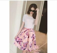 TERNO WHITE SHIRT AND PINK FLORAL SKIRT