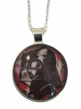 "Star Wars Darth Vader Helmet Glass Dome Pendant Necklace with 20"" Chain"