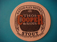 Beer Coaster Bar Mat <> Thomas COOPER & Sons Brewery Stout ~ Adelaide, AUSTRALIA