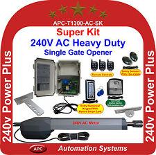 AC 240V Powered Extra Heavy Duty Single Swing Gate Opener Super Kit