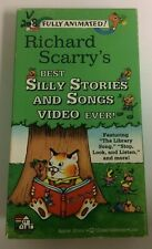 Richard Scarry's Best Silly Stories and Songs VHS Tape