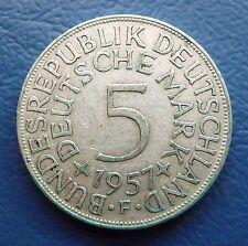 5 DEM Deutsche Mark BRD Silber 1957 F J. 387 ss