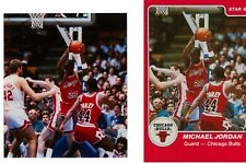 1984-85 Star Co. #101 MICHAEL JORDAN RC Production Transparency AND Uncut Sheet