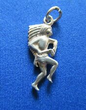 VINTAGE 925 STERLING SILVER BRACELET CHARM NATIVE AMERICAN CHIEF INDIAN