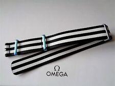 Genuine Omega 20mm Speedmaster Speedy Tuesday Striped Polyamide NATO Strap, New
