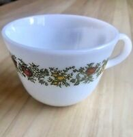 Pyrex SPICE OF LIFE Tea Cup White Milk Glass With Vegetables Vintage Look