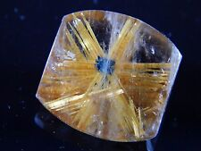 22 cts RARE STAR RUTILE QUARTZ CRYSTAL GEM FROM  NOVO HORIZONTE BRAZIL JEW 164