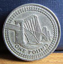 2004 UK £1 One Pound Coin - Forth Railway Bridge Scotland Design
