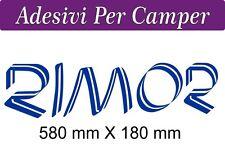 2 ADESIVI RIMOR OUTLINE- COLORE BLU ELETTRICO  - 58X18 centimetri - LOGO CAMPER
