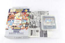 Sega GAME GEAR Gioco in scatola d'oro olimpiche COMPLETO PAL