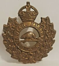 WWI CANADIAN ARMY CEF ROYAL CANADIAN ENGINEERS CAP BADGE KC CAPBADGE BRONZE