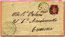 ITALIA - Regno - 1887 - Da Adrara San Martino/Bg a Cremona - 10 c. -  Umberto I