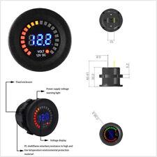 Car Motorcycle Voltmeter LED Digital 12V DC Waterproof Short-circuit Protection