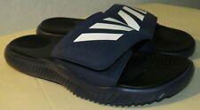 Adidas Men's Alphabounce Slides Sandals Dark Blue/White/Black F34774 Size 10 US