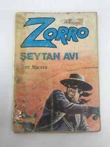 ZORRO #5 - Turkish Comic Book - 1980s - Very Rare