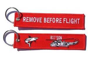817 Squadron Sea King Remove Before Flight Key Ring Luggage Tag
