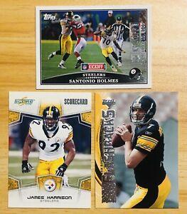 Steelers NFL Card Lot Roethlisberger/Holmes Kickoff 0923/2009-Harrison 234/649
