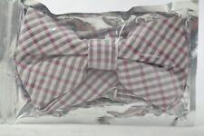 Mens Pre Tied Adjustable Checkered Bow Tie / T2