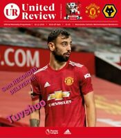 Manchester United v Wolves Wolverhampton 29/12/20 PL Programme RECORDED DISPATCH