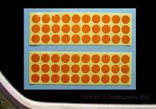 60 Round Orange Reflective Safety Decal-Stickers Bikes