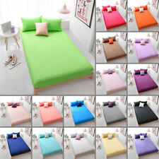 Full Fitted Sheet Bed Sheets 100% Poly Cotton Single Double Super King Size New