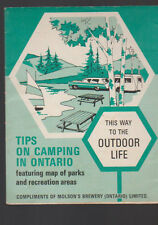 Tips on Camping in Ontario Canada Brochure Compliments of Molson Brewery