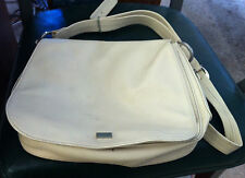 "Beige Leather ""TEXIER"" leather purse cross body shoulder bag"
