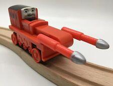 Thomas Wooden Railway Thumper Treads 2003 Vintage Train Set Red Quarry Machine