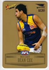 2012 AFL Select Peel And Reveal Gold Card - Dean Cox