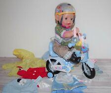 Baby Born Junge v. Zapf, mit Schlafaugen, Fahrrad, Kleidung + Zubehör